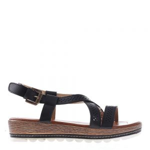 Sandale dama cu platforma Dympa negre - Sandale cu Platforma - Sandale cu Platforma
