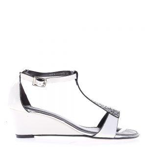 Sandale dama cu platforma Rosella albe - Sandale cu Platforma - Sandale cu Platforma