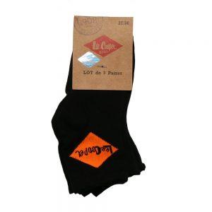 Set 3 perechi sosete copii Lee Cooper Florentin 2 negre cu logo colorat - Aксесоари - Aксесоари Детски