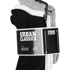 Set Sosete Sport 3- negru-alb Urban Classics - Lenjerie - Urban Classics>Accesorii>Lenjerie