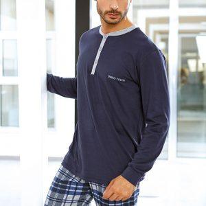 Set barbatesc Flavio din bumbac - bluza pantalon - Promotii - Promotiile saptamanii
