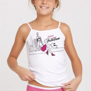 Set fetite chilot si maiou Marika Pink - Lenjerie pentru femei - Lenjerie intima pentru fetite/fete