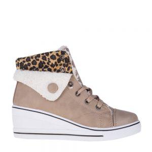 Sneakers dama Jeanetta bej - Incaltaminte Dama - Sneakers Dama