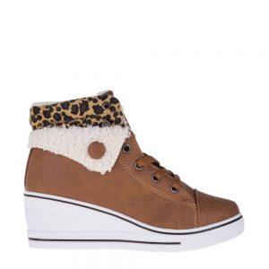 Sneakers dama Jeanetta camel - Incaltaminte Dama - Sneakers Dama