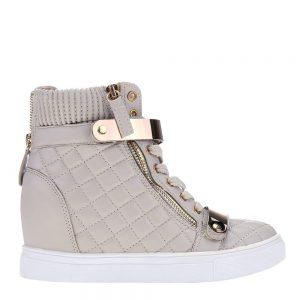 Sneakers dama Jeans bej - Incaltaminte Dama - Sneakers Dama