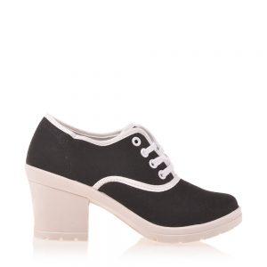 Sneakers dama Kacey negru - Incaltaminte Dama - Sneakers Dama