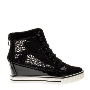 Sneakers dama Kori negru - Incaltaminte Dama - Sneakers Dama