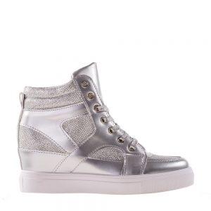 Sneakers dama Lane argintiu - Incaltaminte Dama - Sneakers Dama