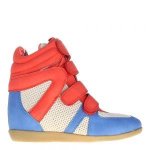 Sneakers dama Urania rosu si albastru - Promotii - Lichidare Stoc