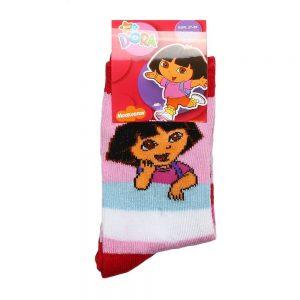 Sosete copii Dora roz cu dungi colorate - Aксесоари - Aксесоари Детски