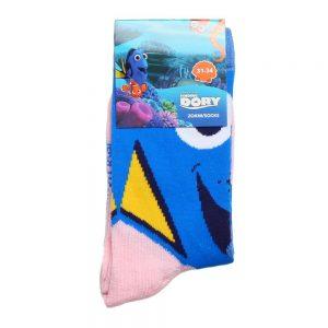 Sosete copii Finding Dory albastre cu roz deschis - Aксесоари - Aксесоари Детски