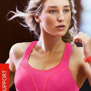 Sutien sport Shock Absorber S5044 Pink - Lenjerie pentru femei - Sutiene si topuri