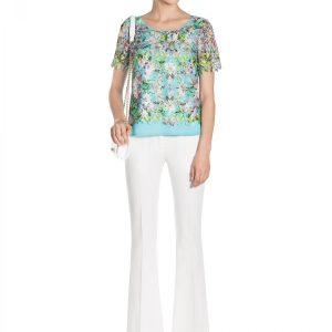 Top din dantela cu print floral Print - Imbracaminte - Imbracaminte / Topuri