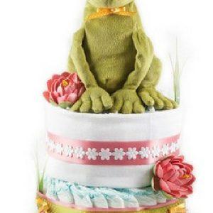 """Tort din Pampers """"Prințul și broscoiul"""" - Produse > Cadouri WoW > Cadouri pentru maternitate/botez -"""