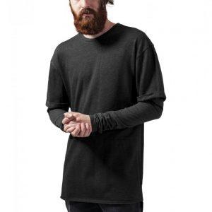 Tricou 2 in 1 cu maneca lunga gri carbune Urban Classics - Bluze cu guler rotund - Urban Classics>Barbati>Bluze cu guler rotund