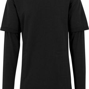 Tricou 2 in 1 cu maneca lunga negru Urban Classics - Bluze cu guler rotund - Urban Classics>Barbati>Bluze cu guler rotund