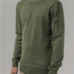 Tricou bomber cu maneca lunga Interlock oliv Urban Classics - Bluze cu guler rotund - Urban Classics>Barbati>Bluze cu guler rotund
