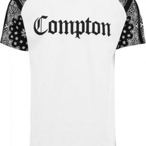 Tricou lung Compton NWA barbati alb-negru Mister Tee - Tricouri lungi cu trupe - Mister Tee>Trupe>Tricouri lungi cu trupe