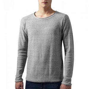 Tricou simplu cu maneca lunga Melange gri-melange Urban Classics - Bluze cu guler rotund - Urban Classics>Barbati>Bluze cu guler rotund