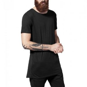 Tricouri mai lungi in spate shaped - Tricouri lungi - Urban Classics>Barbati>Tricouri lungi