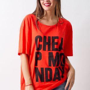 Tricou Cheap Monday Red - FEMEI - TRICOURI DE DAMA