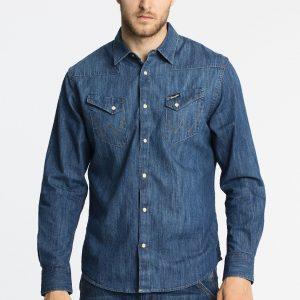 Wrangler - Cămașă Western Indigo - Îmbrăcăminte - Cămăşi